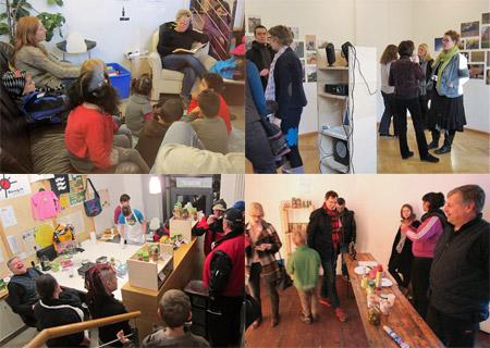 Advent 2012: Lesung in der Weltbücherei, Ausstellung, Weihnachtsmarkt