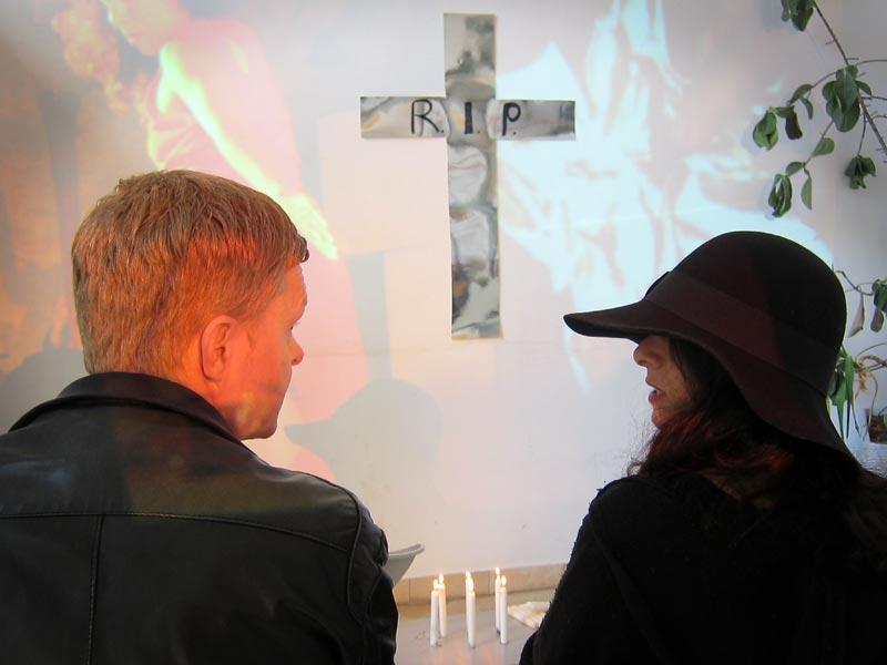 Trauer mit Dorothea Eitel um eine nicht realisierte Kunstaktion