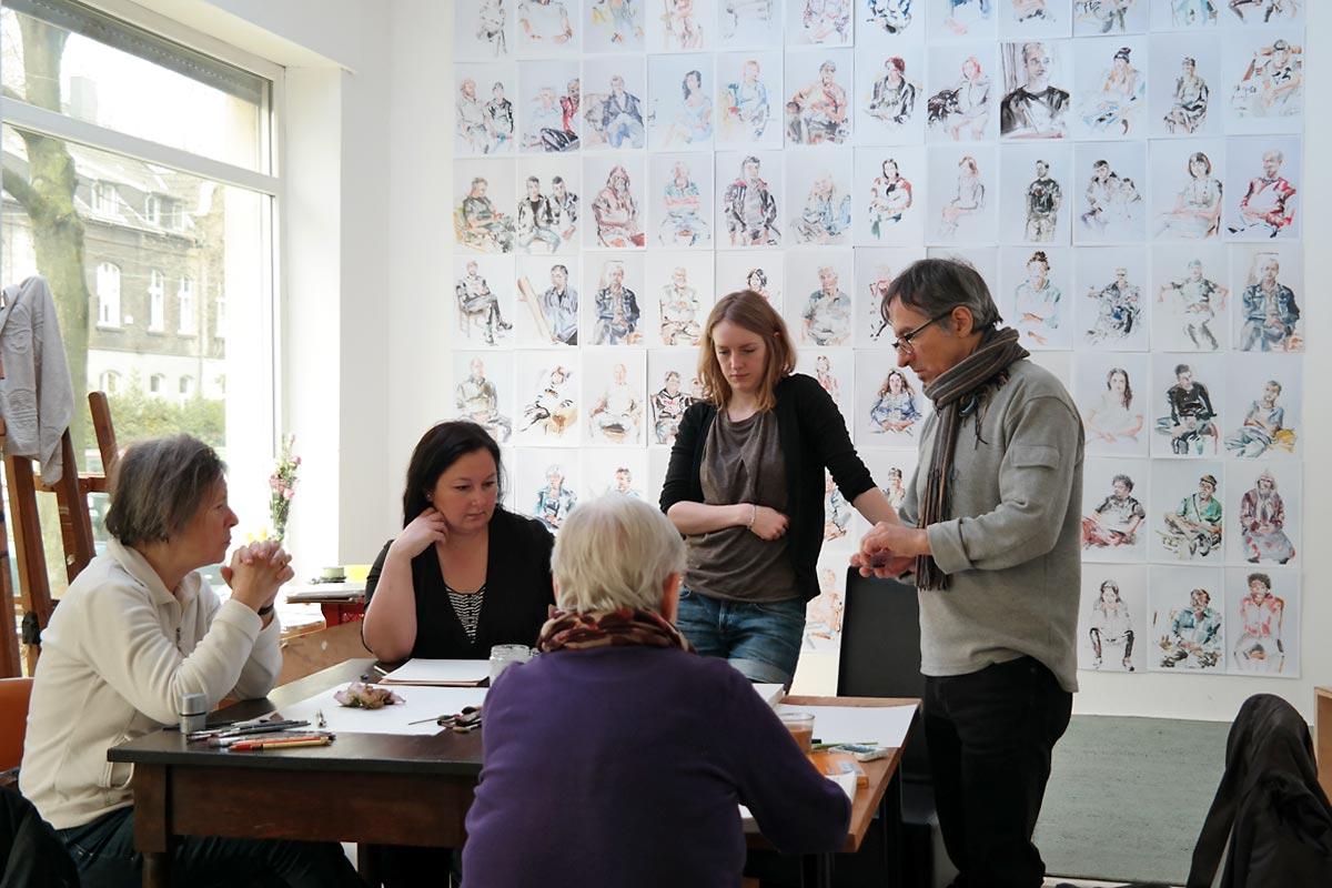 Nordstadt-Portraits. Offenes Atelier in der Galerie 103. Foto: Guido Meincke / Borsig11